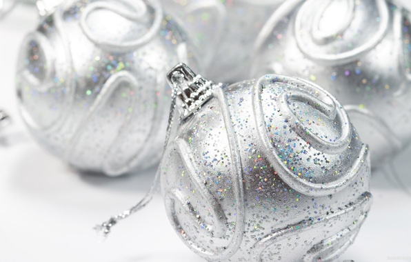 Picture silver, ball, sequins