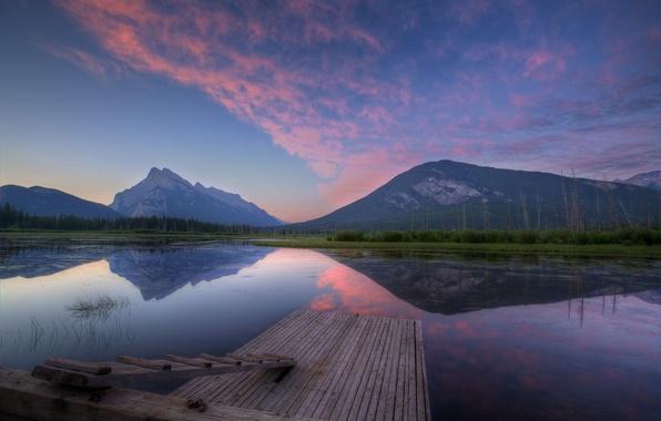 Picture forest, mountains, lake, pierce, USA, Vermillion Lake