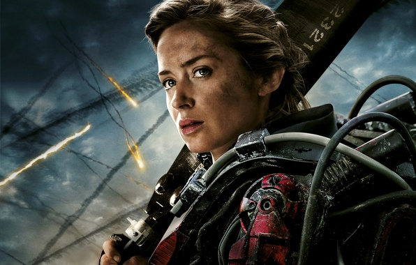 Picture Girl, Action, Fantasy, Sky, Darkness, Emily Blunt, Wallpaper, Woman, Weapon, Face, Cloud, Movie, Sword, Film, …