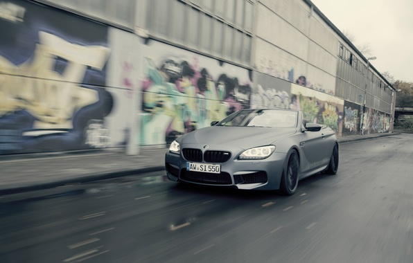 Picture road, car, machine, graffiti, BMW, speed, Cabrio