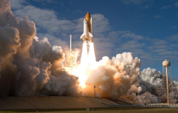 Picture Shuttle, start, Atlantis, Spaceport