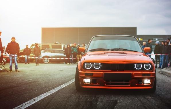 Picture BMW, Drift, Car, Front, Sun, E30, Ligth