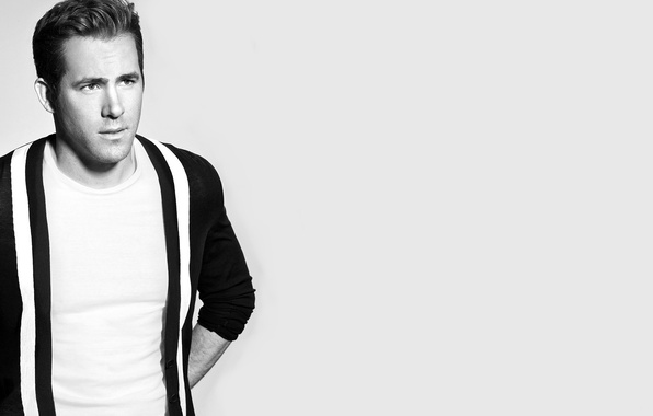 Picture actor, black and white, male, Ryan Reynolds
