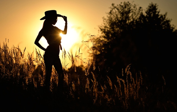 Picture girl, dance, silhouette, Mariya, country 5