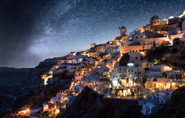 Beautiful Wallpaper Night Greece - noch-zvezdy-mlechnyi-put-gretsiia-gorod-ogni  Snapshot-381218.jpg
