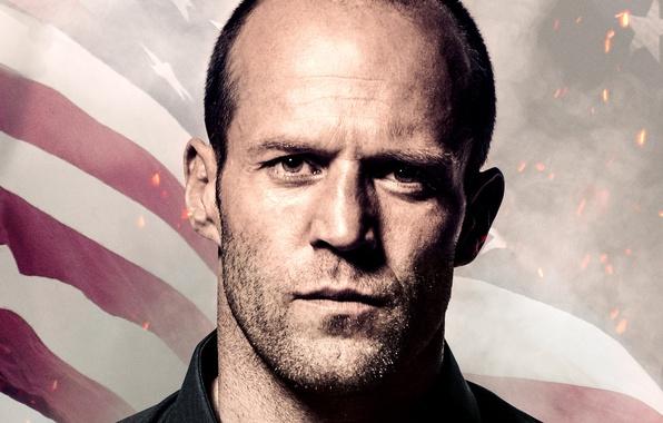 Picture portrait, flag, sparks, Homefront, closeup, Jason Statham, Jason Statham, The last frontier, Phil Broker