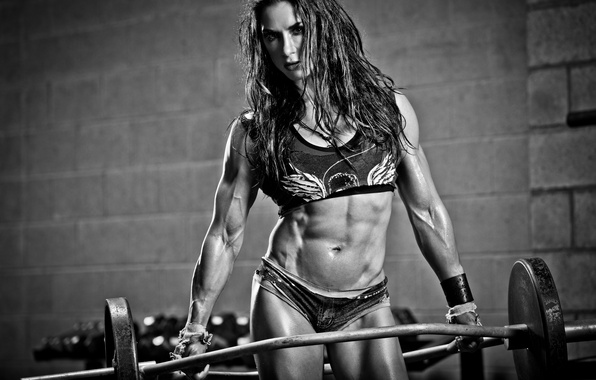 Picture female, fitness, gym, training, abs, bodybuilder