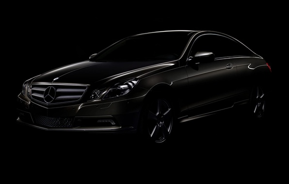 Picture black, coupe, Mercedes-Benz, E-class
