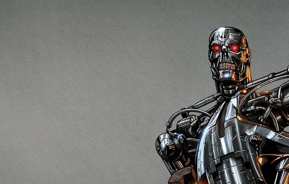 Picture fiction, steel, robot, terminator, terminator, t-800