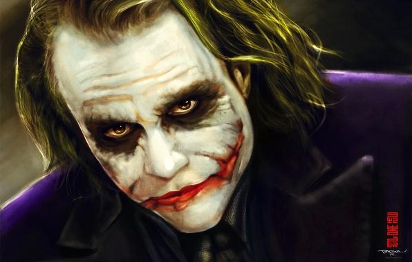 Picture Batman, art, joker, makeup, Byzwa Dher