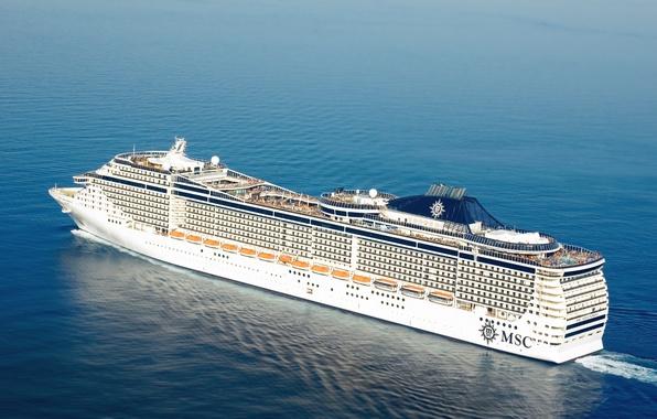 Picture Water, Sea, Liner, The ship, On the go, Splendida, Passenger, MSC
