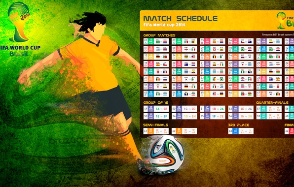 Picture football, Brazil, table, world Cup, 2014