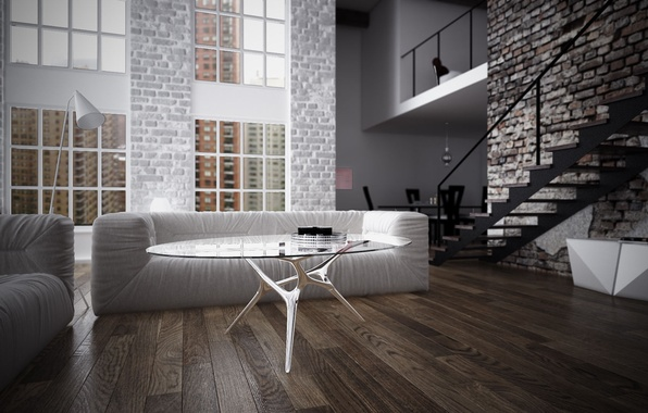 Picture design, style, room, interior, living room, loft