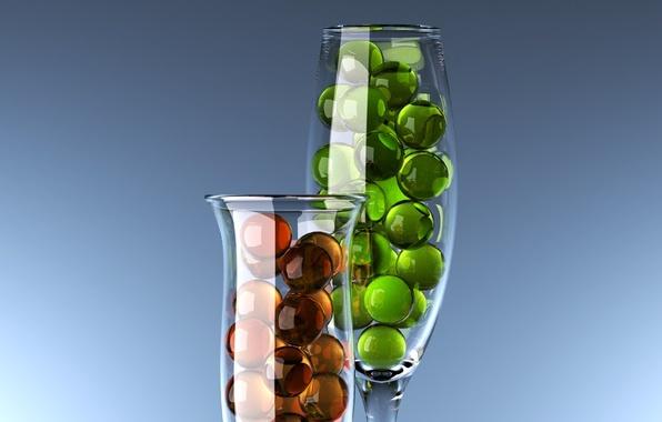 Picture glass, Balls