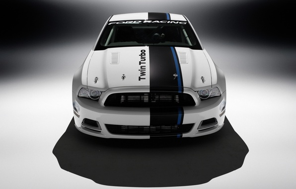 Picture Mustang, Ford, White, Cobra, Turbo, The front