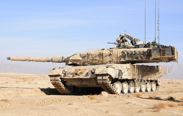 Picture desert, soldiers, binoculars, camouflage, German tank, Leopard 2A