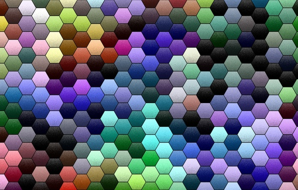 Picture mosaic, abstraction, background, Wallpaper, color, texture, cell, the volume, Hexagon