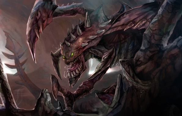 Picture monster, grin, League of Legends, Cho'Gath, Terror of the Void