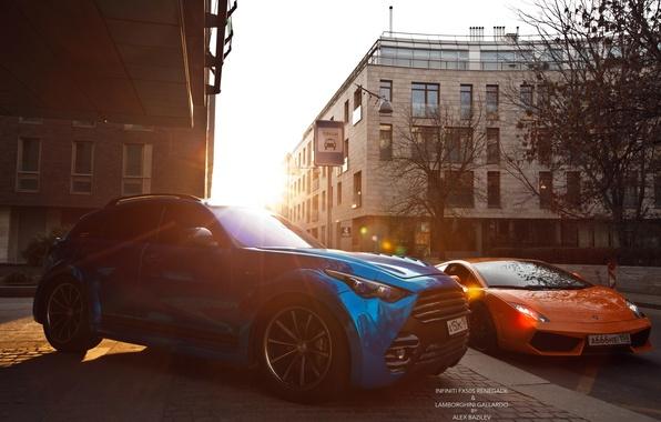 Picture machine, the sun, Lamborghini, photographer, Infiniti, auto, photography, photographer, Alex Bazilev, Alexander Bazylev, Alexander Bazilev