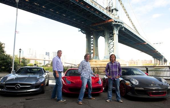Picture bridge, Mercedes-Benz, 911, Porsche, Jeremy Clarkson, Ferrari, men, 458, men, AMG, SLS, GT3, top gear, …