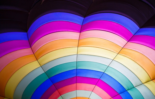 Picture balloon, color, parachute, fabric, sector