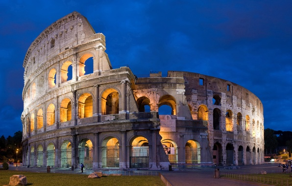 Picture the sky, the evening, Rome, Colosseum, Italy, Colosseum, Rome