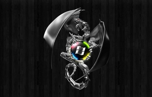 Picture dragon, windows, logo