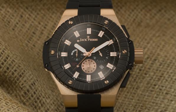 Picture black, watch, fabric, Jack Pierre, bronze