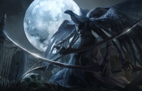 Wallpaper night weapons the moon