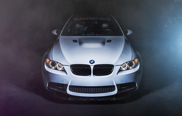 Picture white, BMW, BMW, before, white, front, E92