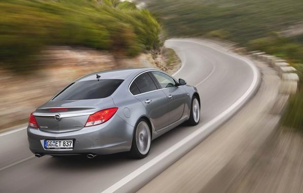 Picture Road, Machine, Grey, Opel, Insignia, Opel, Car, BiTurbo