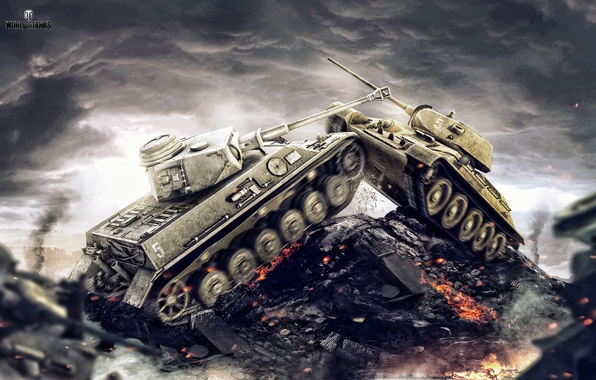 Picture Germany, USSR, T-34, WoT, World of Tanks, World Of Tanks, The situation, Wargaming Net, Medium …