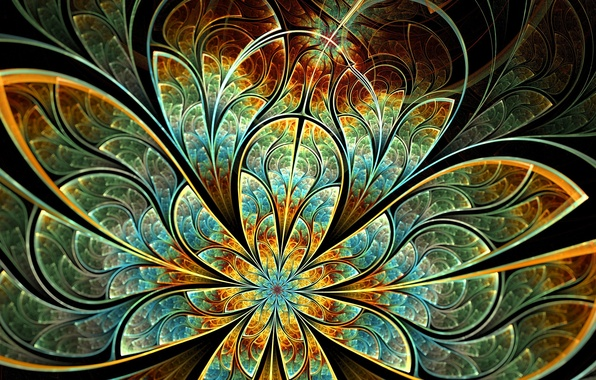 Picture flower, pattern, petals, art