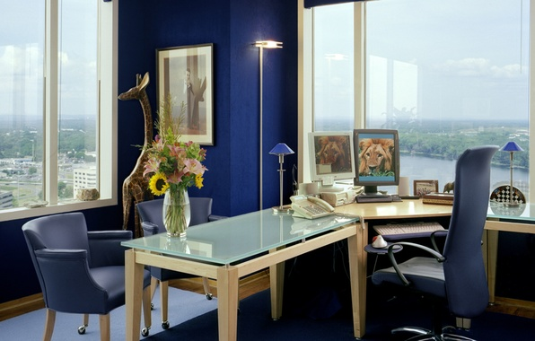 Picture design, style, interior, office, the room, office