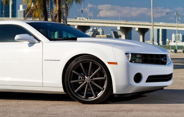 Picture machine, auto, bridge, tuning, Chevrolet, drives, USA, vossen, Miami, miami, chevrolet camaro