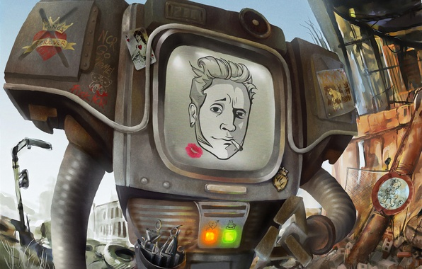 Picture robot, Fallout, New Vegas, Fallout: New Vegas, Securitron