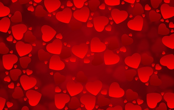 Picture red, background, texture, hearts
