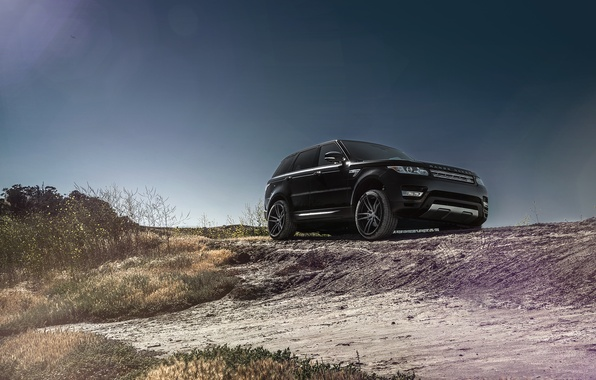 Picture Front, Black, California, Forged, Sport, Land, Rover, Wheels, Range, Collection, Aristo