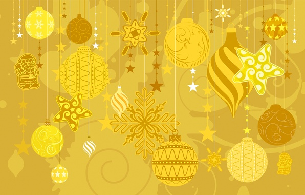 Picture winter, decoration, toys, vector, texture, New Year, Christmas, postcard