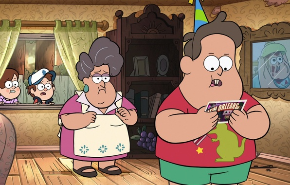 Picture forest, letter, house, style, birthday, cartoon, picture, window, postcard, Cartoon, Gravity Falls, Gravity Falls, Dipper, …