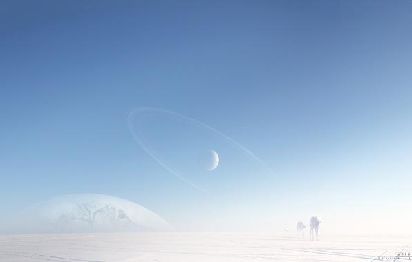 Picture cold, snow, machine, robots, art, ice, star wars