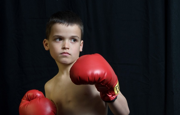 Picture look, boy, gloves, boxer