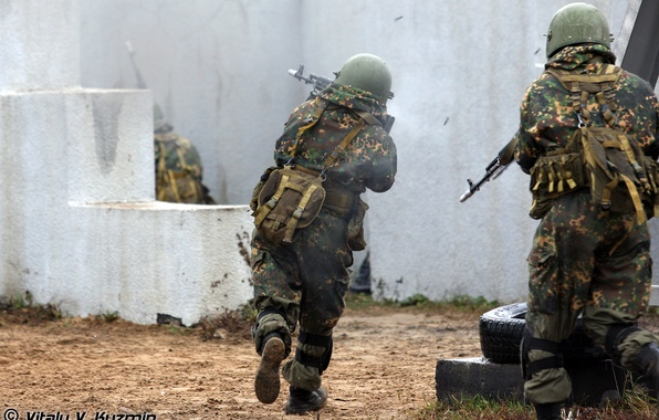 Picture smoke, army, soldiers, Russia, polygon, exercises, special forces, Russian