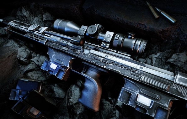 Wallpaper weapons, guns, cartridges, sniper rifle, Sniper
