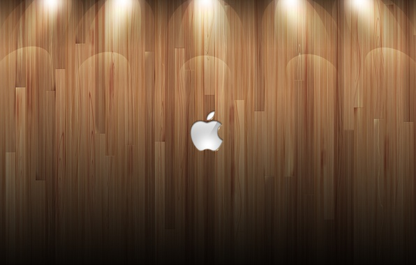 Picture wall, tree, Apple, mac, logo