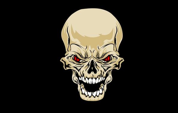 Picture eyes, skull, teeth, sake