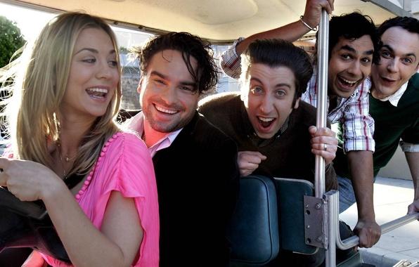 Picture actors, The Big Bang Theory, smile, fun, The Big Bang Theory