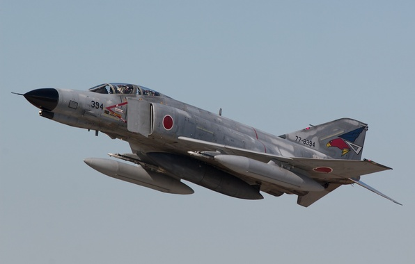 Picture flight, fighter, multipurpose, Phantom II, Phantom II, Mitsubishi F-4EJ