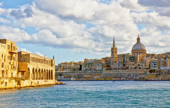 Picture The Mediterranean sea, Malta, Malta, Valletta, Valletta