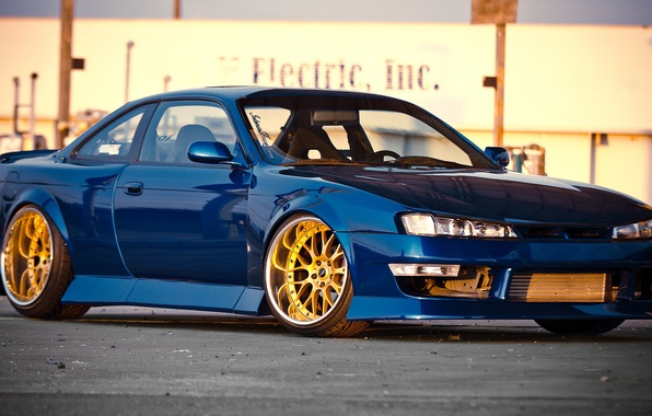 Picture Silvia, Nissan, blue, Nissan, blue, Sylvia, S14